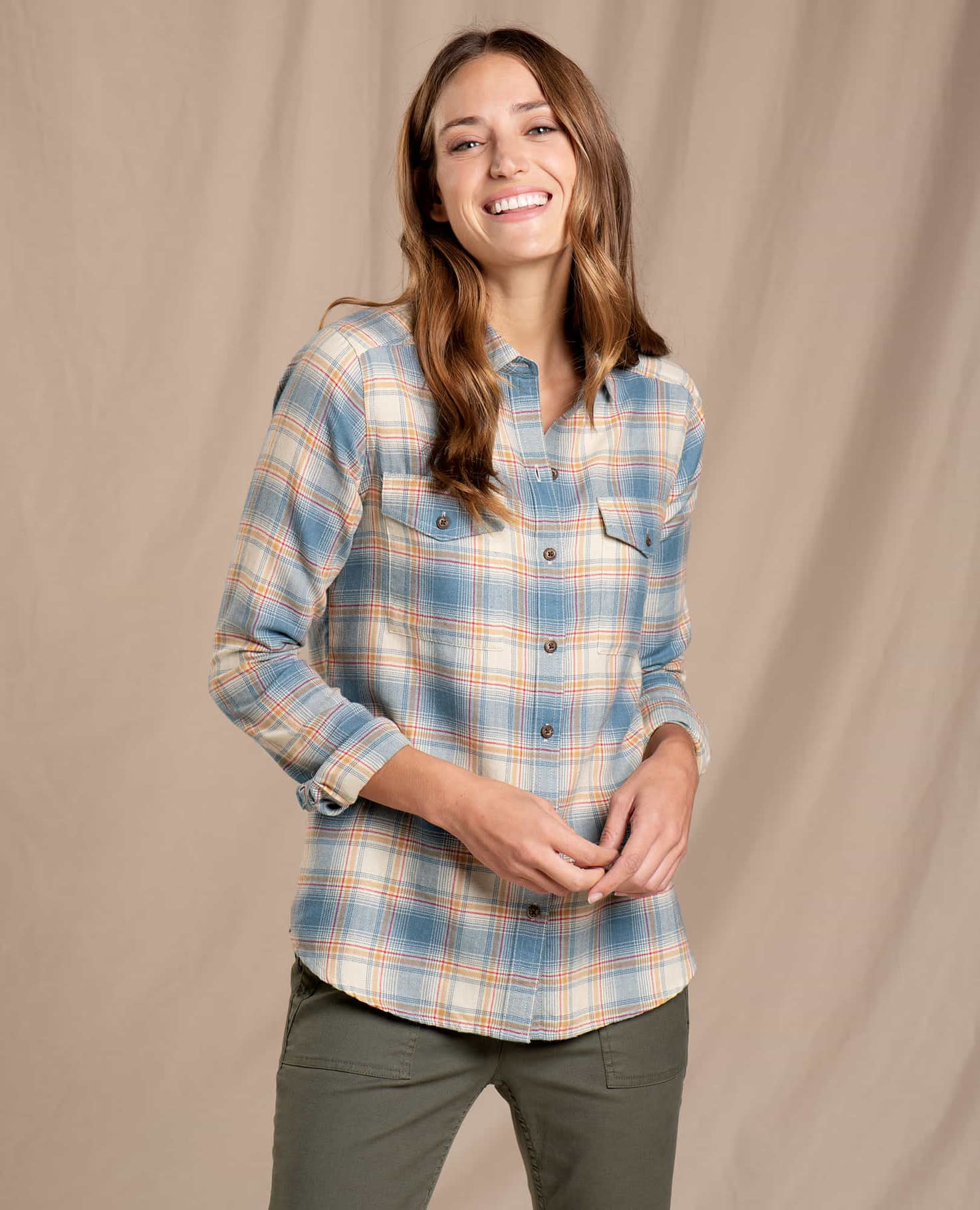 Toad & Co Re-Form Flannel Shirt-1