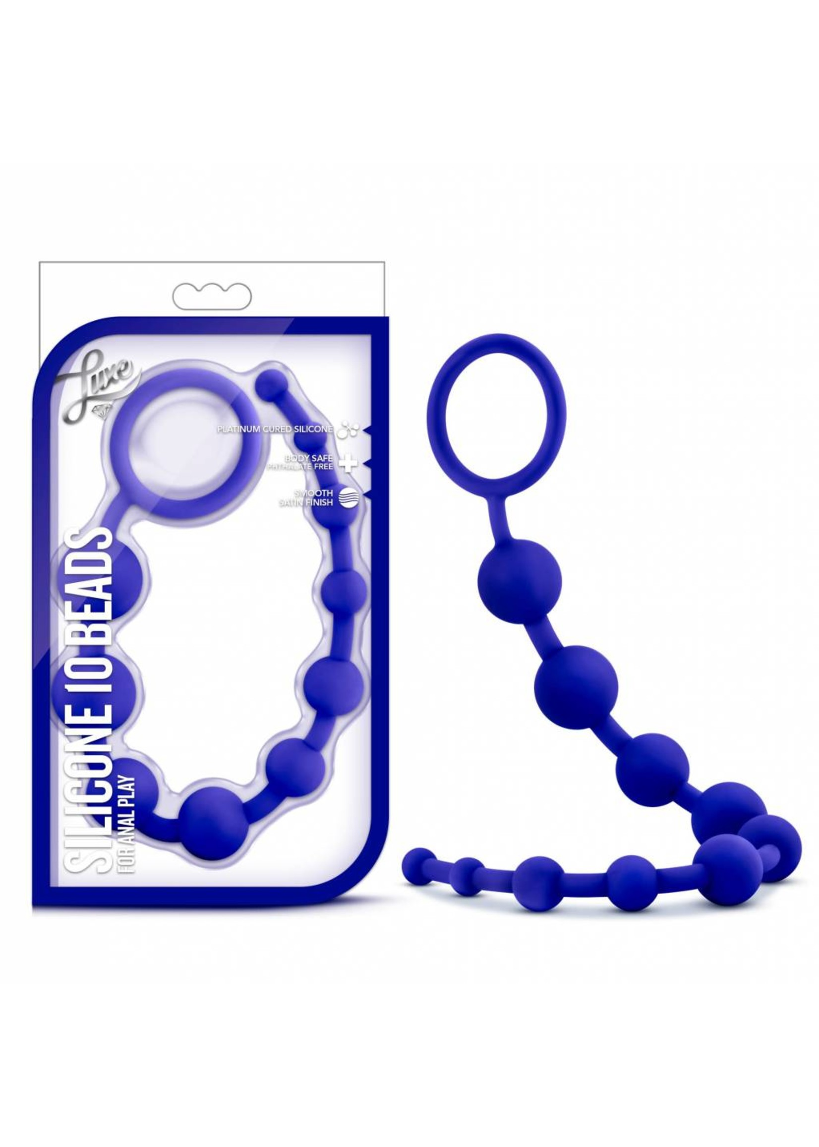 Blush Novelties Luxe Silicone 10 Beads Blue