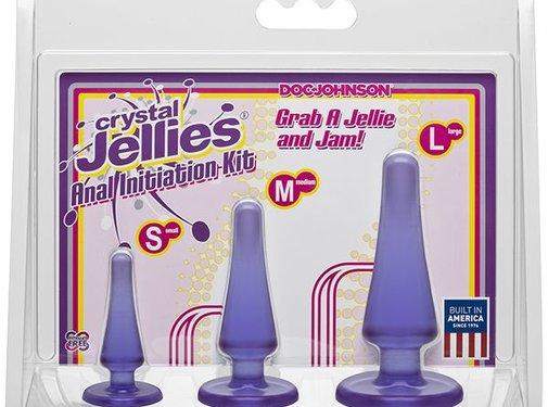 Doc Johnson Crystal Jellies Anal Initiation Kit-Purple