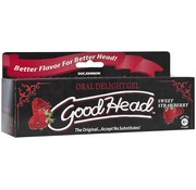 Doc Johnson GoodHead Oral Delight Gel - 4 oz Tube - Sweet Strawberry