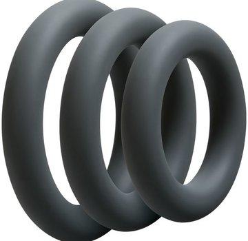 Doc Johnson OptiMALE- 3 C-Ring Set Thick - Slate