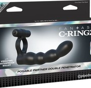 Pipedream Fantasy C-Ringz Posable Partner Double Penetrator