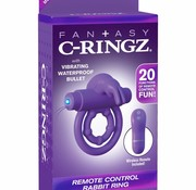 Pipedream Fantasy C-Ringz Remote Control Rabbit Ring- Purple