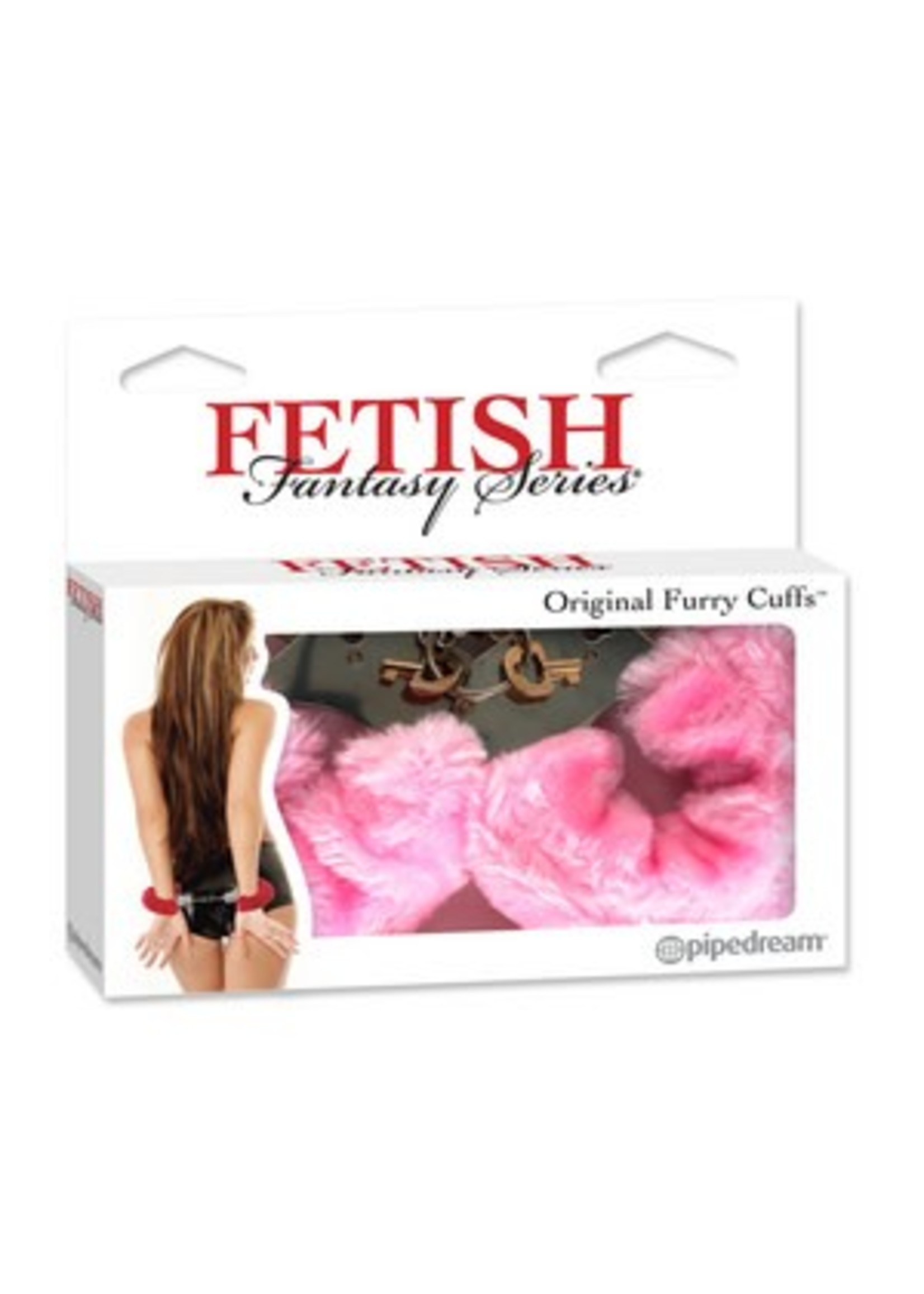 Pipedream Fetish Fantasy Series Original Furry Cuffs-Pink