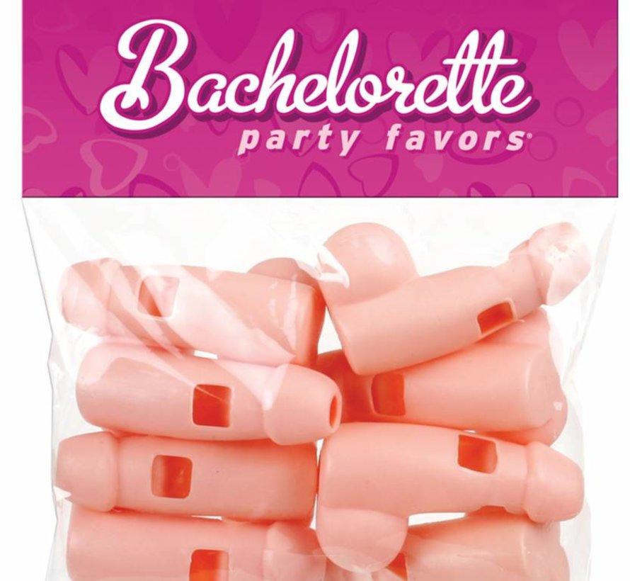 Bachelorette Party Favors - Pecker Whistles - Flesh