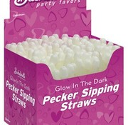 Pipedream GLOW PECKER SIP STRAW  (single)
