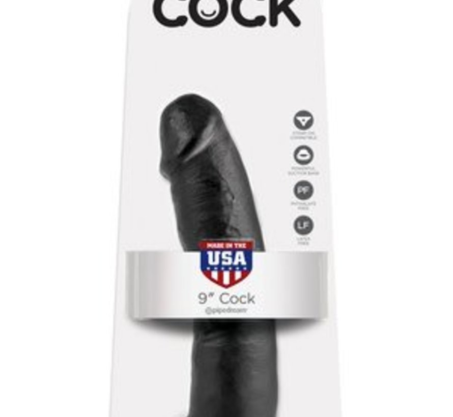 "King Cock 9"" Cock-Black"