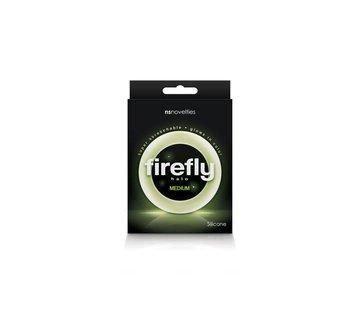 NS Novelties Firefly - Halo - 55mm Cockring - Medium - Clear