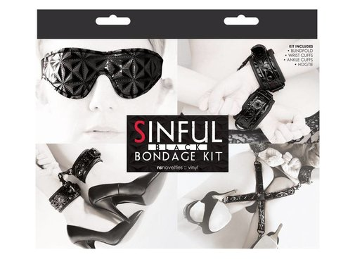 NS Novelties SINFUL BONDAGE KIT BLACK
