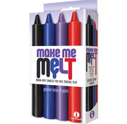 The 9'S Make Me Melt Drip Candles-Passion Tones (4 Pack)