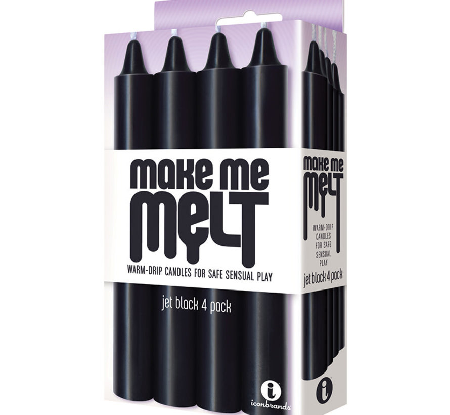 Make Me Melt Drip Candles-Jet Black