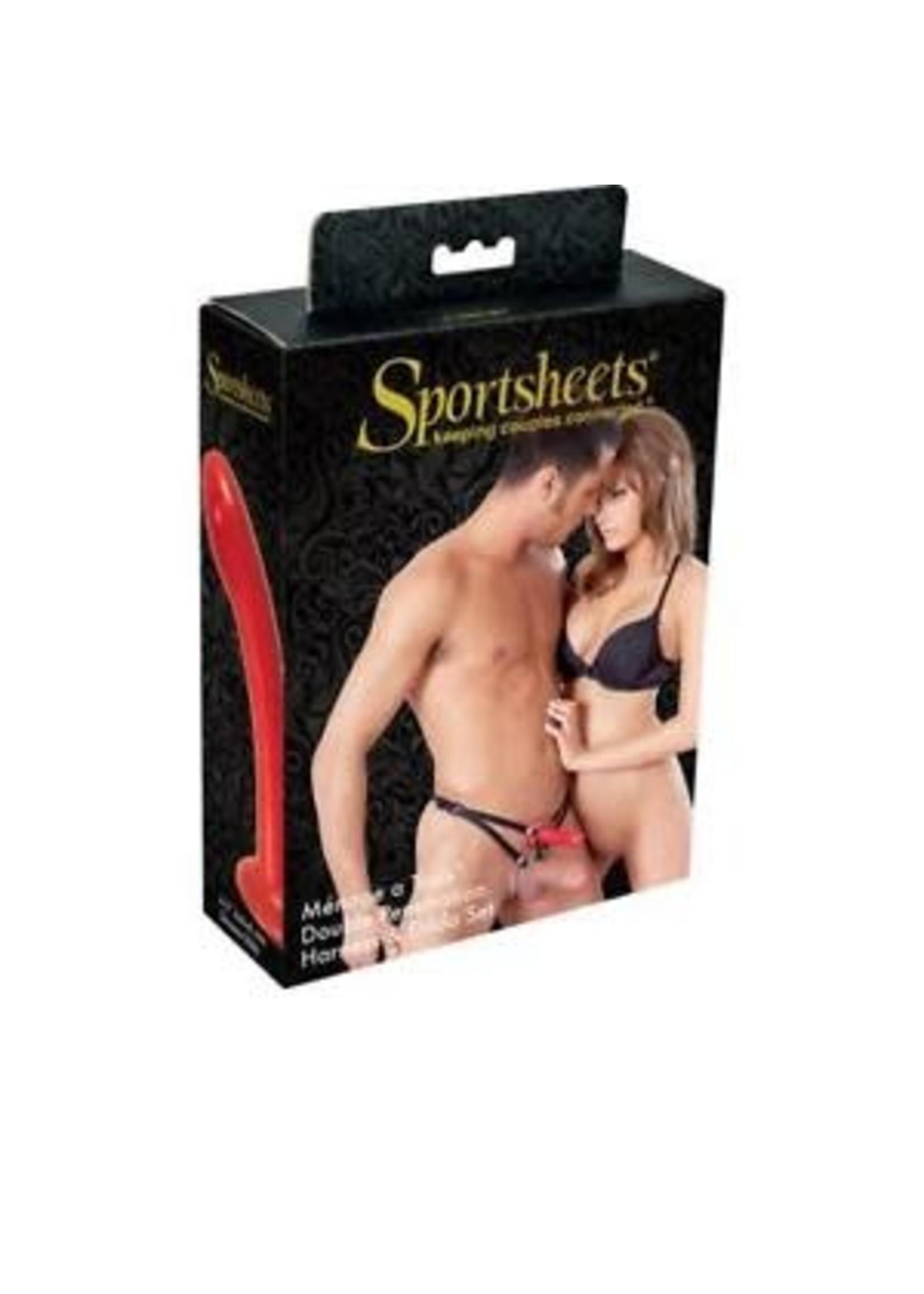 Sport Sheets Sportsheets Menage a Trois Double Penetration Harness & Dildo Set
