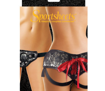 Sportsheets SS LACE CORSET STRAP ON PLAT
