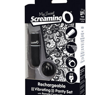 Screaming O SCREAMING O RECHARGEABLE PANTY VIBE BLACK