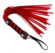 XR Brands Short Suede Flogger Red