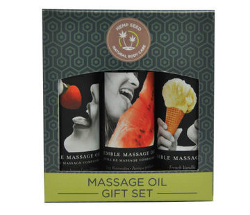 Earthly Body EDIBLE MASSAGE GIFT SET TRIO