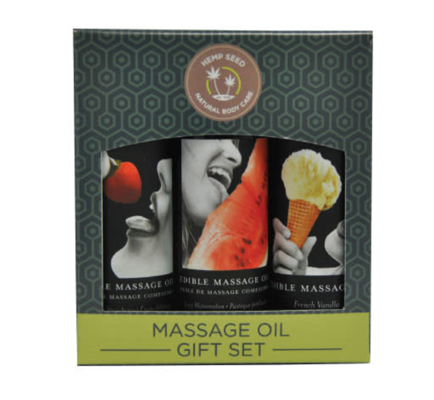 EDIBLE MASSAGE GIFT SET TRIO