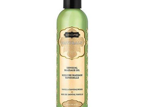 Kama Sutra Naturals Massage Oil Vanilla Sandalwood 8fl oz