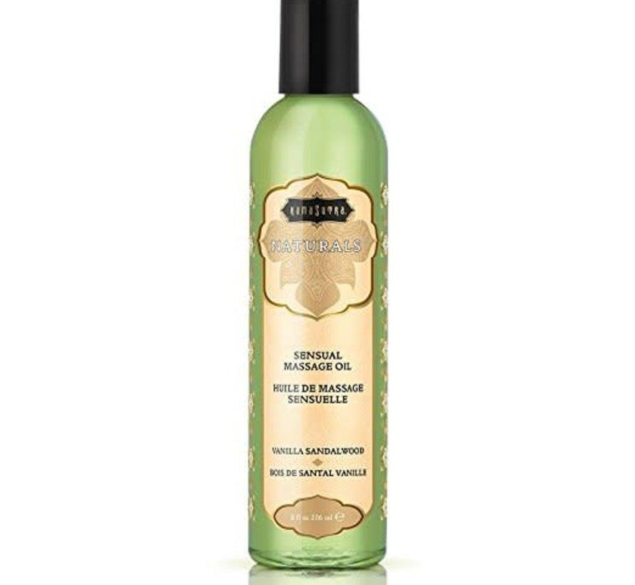 Naturals Massage Oil Vanilla Sandalwood 8fl oz