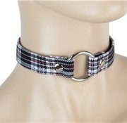 "Funk Plus 3/4"" Plaid O-ring Collar"