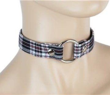 "Funk Plus 3/4"" Plaid O-ring Collar"