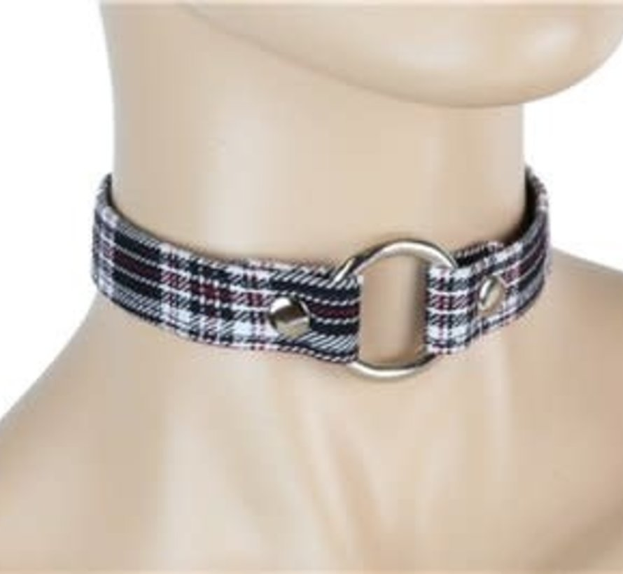 "3/4"" Plaid O-ring Collar"