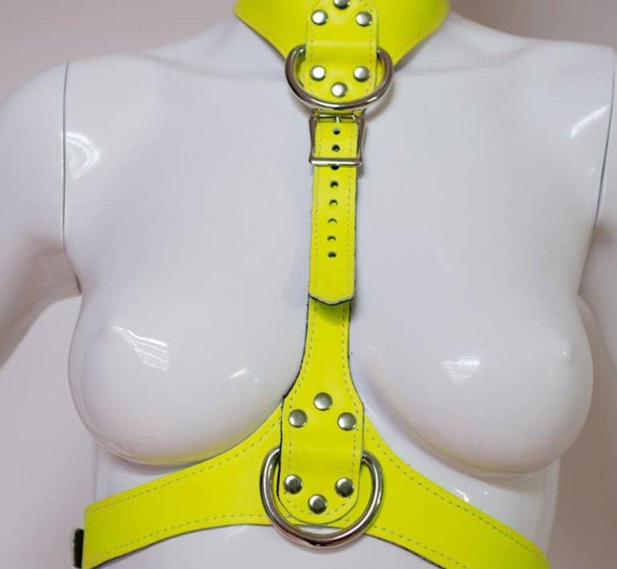 Neon Angel Chest Harness Yellow