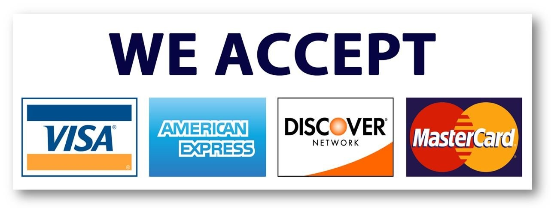 Visa, Amex, Discover, MC Logo