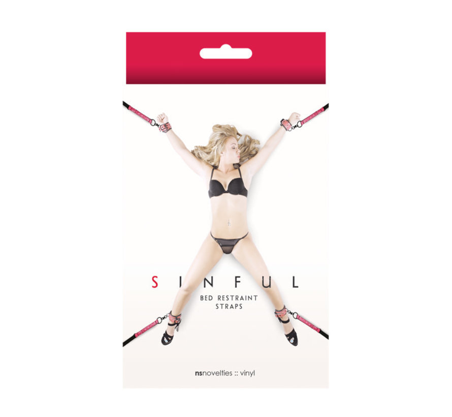 SINFUL BED RESTRAINT PINK