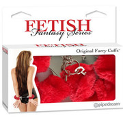 Pipedream Fetish Fantasy Series Original Furry Cuffs-Red
