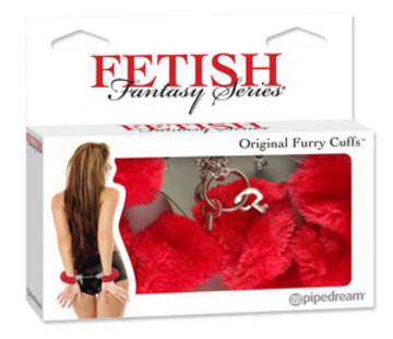Pipedream Fetish Fantasy Series Original Furry Cuffs-Red