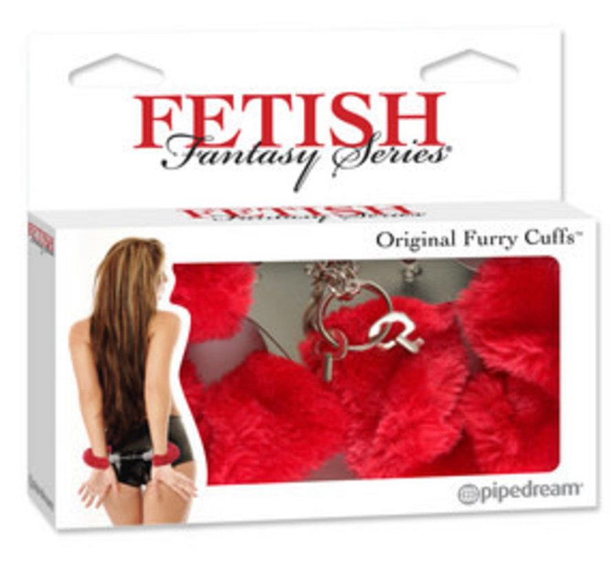 Fetish Fantasy Series Original Furry Cuffs-Red