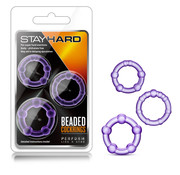 Blush Novelties STAY HARD BEADED C-RING PURPLE