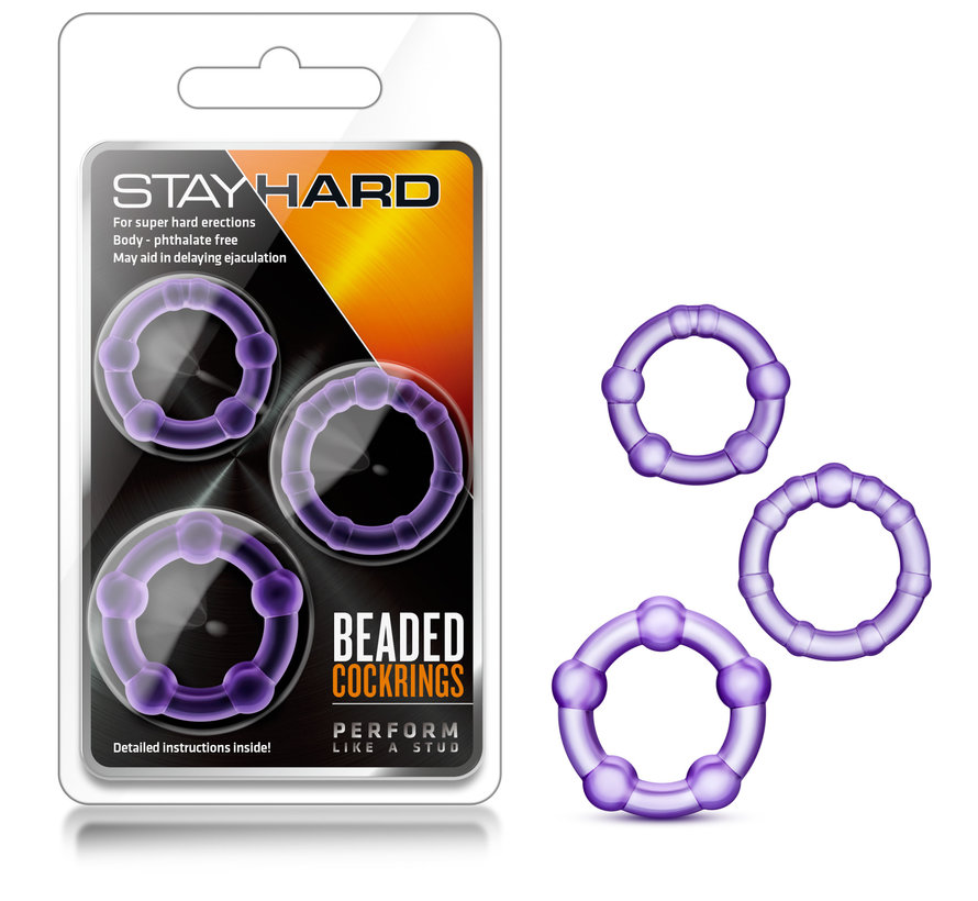 STAY HARD BEADED C-RING PURPLE