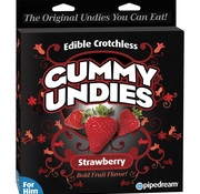 Pipedream Edible Male Gummy Undies-Strawberry