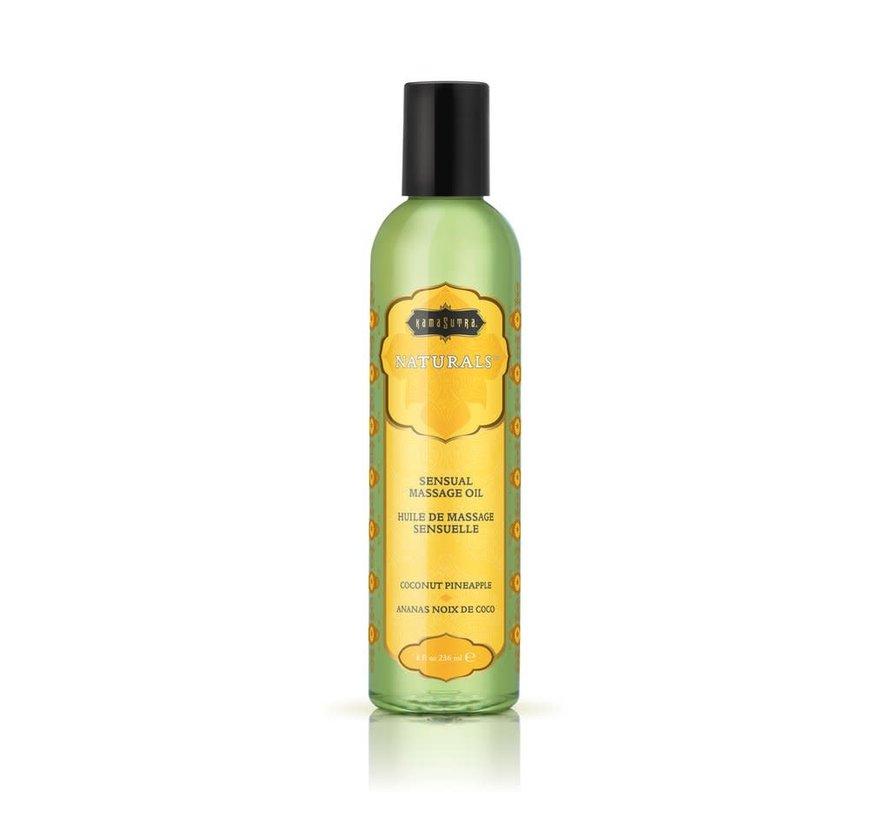 Naturals Massage Oil Coconut Pineapple 8fl oz