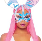Leg Avenue Holographic Vinyl Bunny Ear Mask