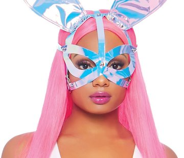 Leg Avenue Holographic Vinyl Bunny Ear Mask