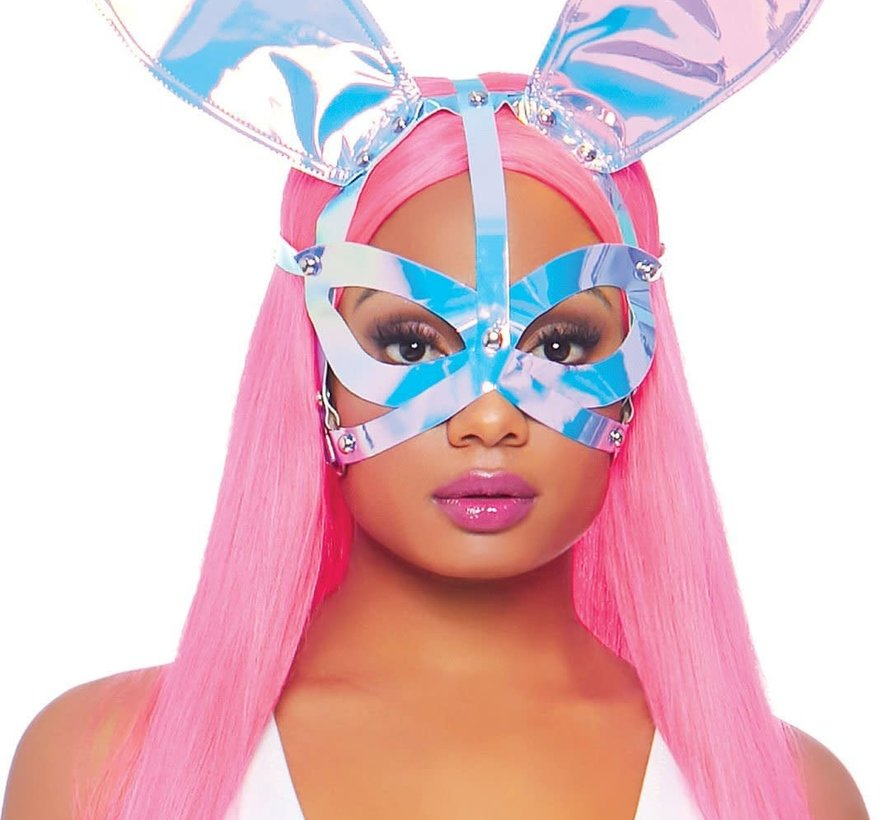Holographic Vinyl Bunny Ear Mask