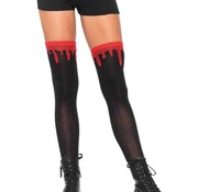 Leg Avenue Dripping Blood Knee Socks