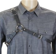 Funk Plus Men's Black Leather Harness