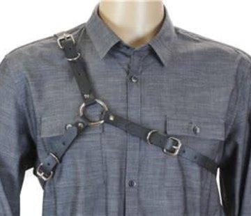 Funk Plus Men's Black Leather Harness