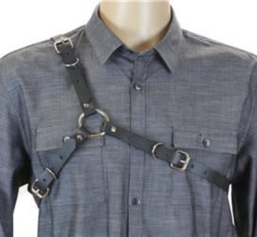 Men's Black Leather Harness
