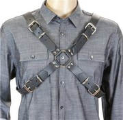 Funk Plus Men's Leather X Harness Black
