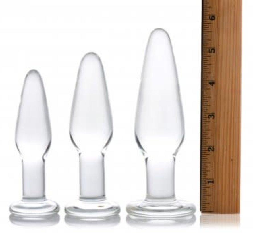 3pc Glass Plug Kit