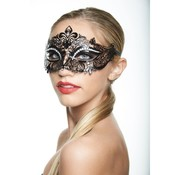 Venetian Mask w/White Rhinestones