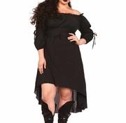 Leg Avenue High Low Peasant Dress Black