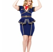 Leg Avenue Leg Avenue Friendly Skies Flight Attendant Costume