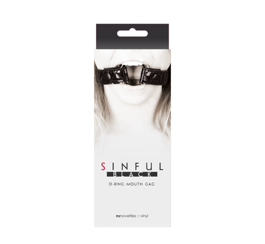SINFUL O-RING OPEN MOUTH GAG BLACK