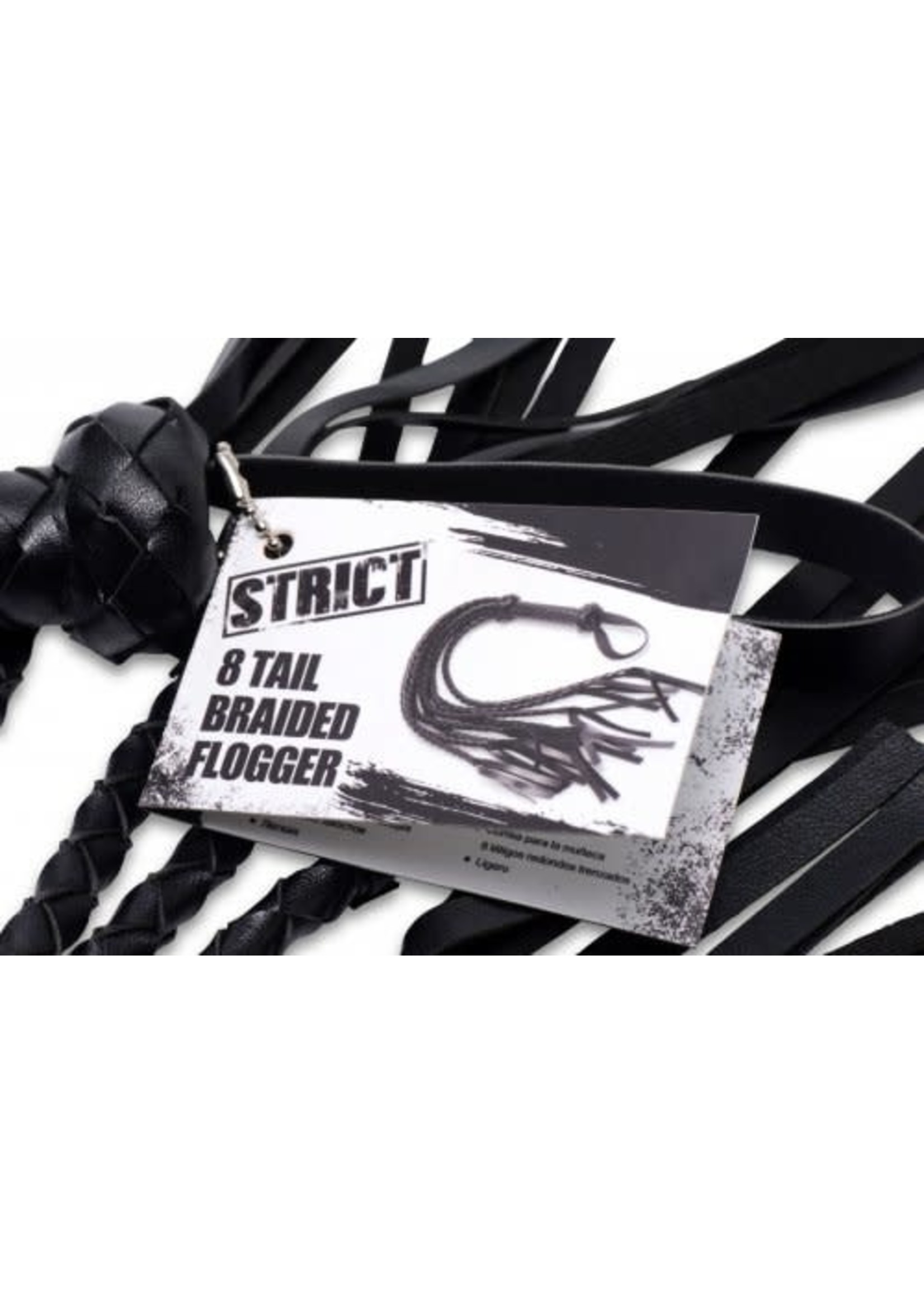 XR Brands 8 Tail Braided Flogger